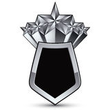 Heraldic 3d glossy icon for use in web and graphic design, penta Stock Image