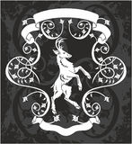 Heraldic deer in a frame Royalty Free Stock Photo