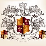Heraldic design with coat of arms and shield Stock Photography