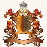Heraldic design with coat of arms Royalty Free Stock Images