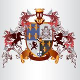 Heraldic design with coat of arms and shield in vintage style Royalty Free Stock Photography