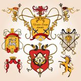 Heraldic design colored Royalty Free Stock Photo