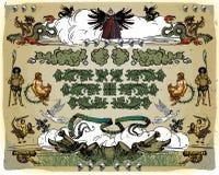 Heraldic design elements Royalty Free Stock Photography