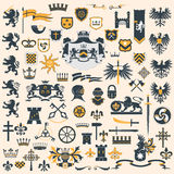 Heraldic Design Elements Set Stock Photo