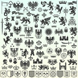 Heraldic Design Elements Royalty Free Stock Image