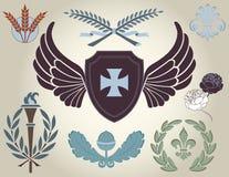 Heraldic Design Elements and Symbols Royalty Free Stock Photography