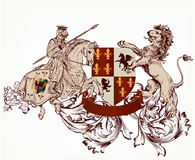 Heraldic design in vintage style Stock Photography