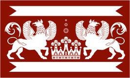 Heraldic Double Griffin Stock Photo