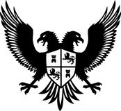 Heraldic eagle Stock Images