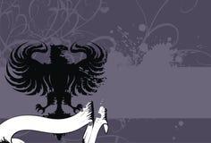Heraldic eagle background 1. Heraldic eagle background in format stock illustration