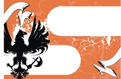 Heraldic eagle background. In format very easy to edit vector illustration