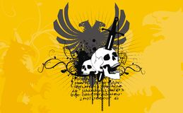 Heraldic eagle coaat of arms crest background Royalty Free Stock Image