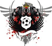 Heraldic eagle coat of arms crest soccer tattoo crest. Heraldic eagle coat of arms crest soccer tattoo in vector format Stock Photo