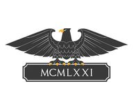 Heraldic eagle with nameplate Royalty Free Stock Photos