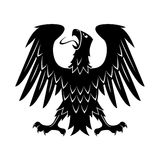 Heraldic eagle with raised wings, turned head Royalty Free Stock Images