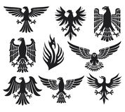 Heraldic eagle set Royalty Free Stock Photography