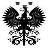 Heraldic eagle silhouette stock illustration