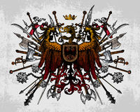 Heraldic eagle weapons Royalty Free Stock Photography