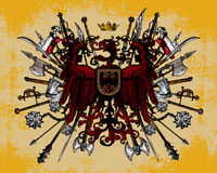 Heraldic eagle weapons Stock Photo