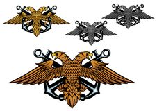 Free Heraldic Eagle With A Sea Anchor In Claws Stock Photos - 33119623