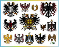 Heraldic eagles Royalty Free Stock Photo