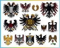 Heraldic eagles Royalty Free Stock Photo