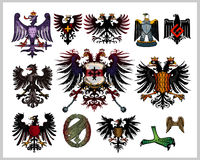 Heraldic eagles Royalty Free Stock Image