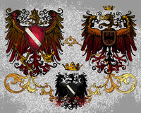 Heraldic eagles Stock Images