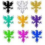 Heraldic eagles illustration Royalty Free Stock Photos
