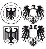 Heraldic eagles vector illustration