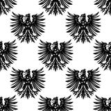 Heraldic eagles seamless pattern background Royalty Free Stock Images