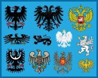 Heraldic elements. Traditional heraldic elements. Additional  format Illustrator 8 eps Stock Photos