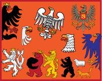 Heraldic elements. Traditional heraldic elements. Additional  format Illustrator 8 eps Stock Images