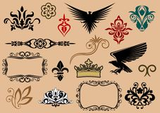 Heraldic elements Royalty Free Stock Images