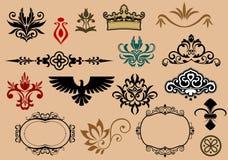 Heraldic elements Stock Photos