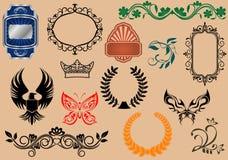 Heraldic elements Royalty Free Stock Images