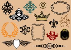 Heraldic elements Royalty Free Stock Photography