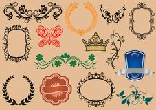 Heraldic elements Royalty Free Stock Photo