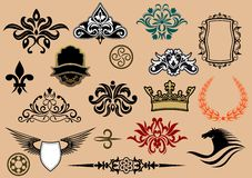 Heraldic elements Stock Images