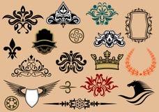 Heraldic elements Stock Images