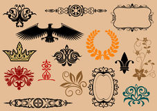 Heraldic elements stock image