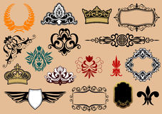 Heraldic elements Stock Photo