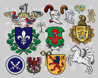 Heraldic elements set 16 Royalty Free Stock Photography