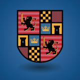 Heraldic emblem Royalty Free Stock Photos