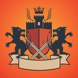 Heraldic emblem Royalty Free Stock Image