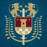 Heraldic emblem Royalty Free Stock Images