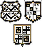 Heraldic emblem badge shield Royalty Free Stock Image