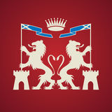 Heraldic emblem Stock Photo