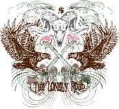 Heraldic emblem design Stock Photo