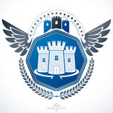 Heraldic emblem isolated vector illustration. Stock Photography